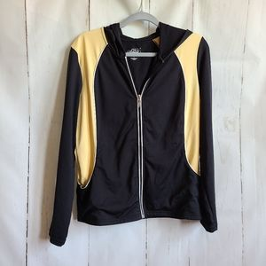 Style & Co black hooded zip up athletic sweater